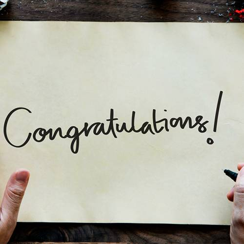 what to write in Congratulations group card