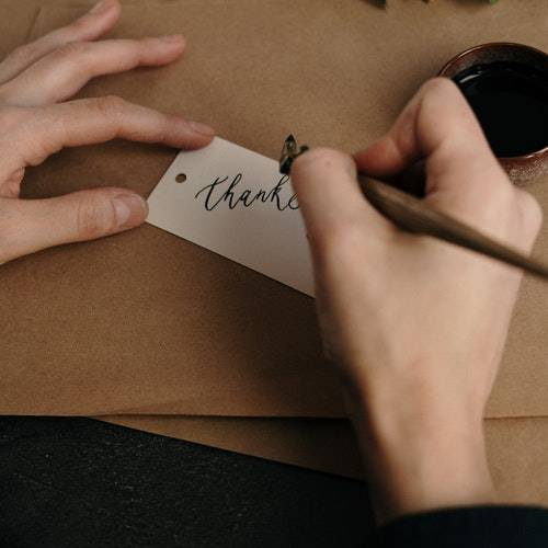 what to write in Thank You group card