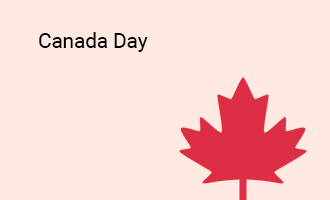 create Canada Day group cards