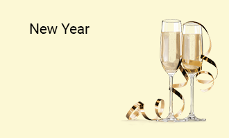 create New Year group cards