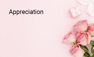 create Appreciation group cards
