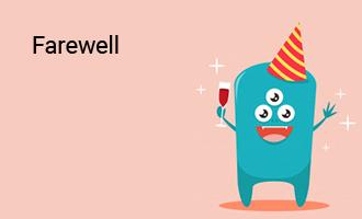 create Farewell group cards
