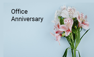 create Office Anniversary group cards