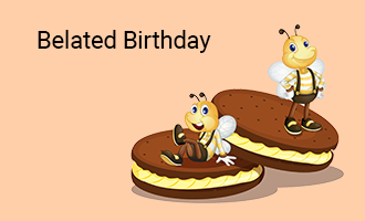 create Belated Birthday group cards
