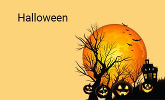 create Halloween group cards