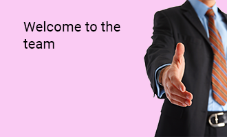 create Welcome To The Team greeting cards