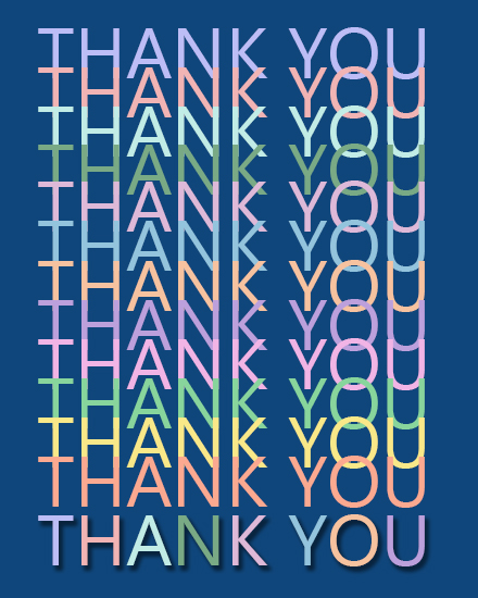 create free Thank You group card