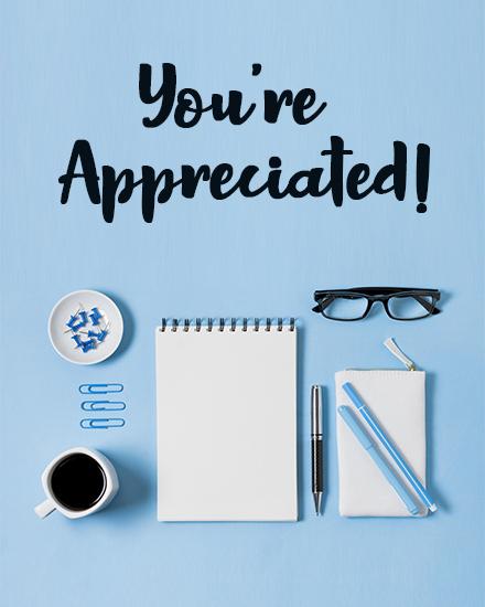 create free Appreciation Desk group card
