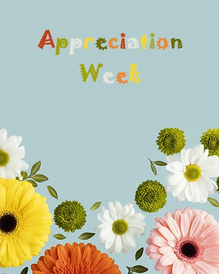 create free Appreciation week group card