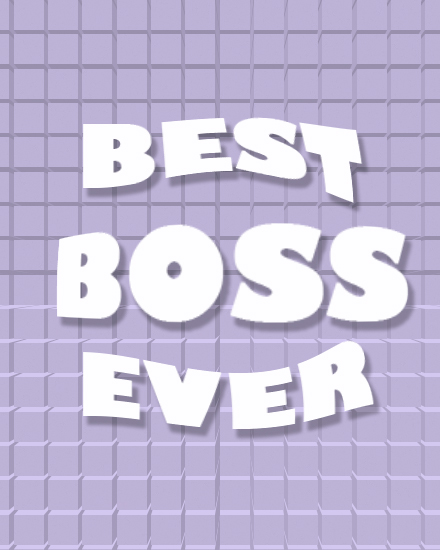 create free Best Boss Ever group card