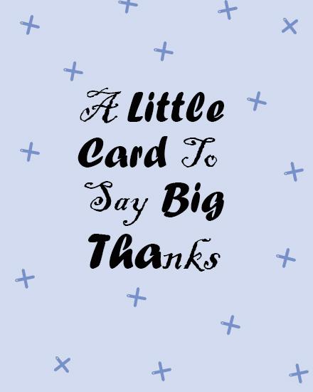 create free Big Thanks group card