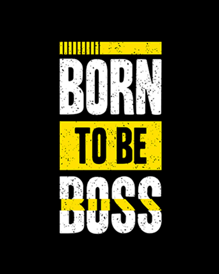 create free Born to be Boss group card