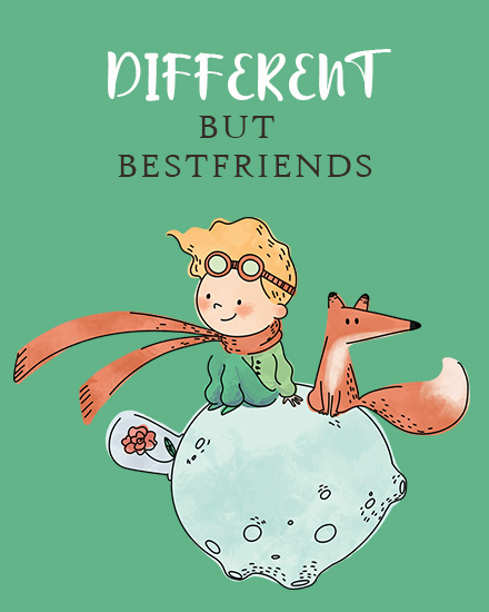 create free Different but Friends group card