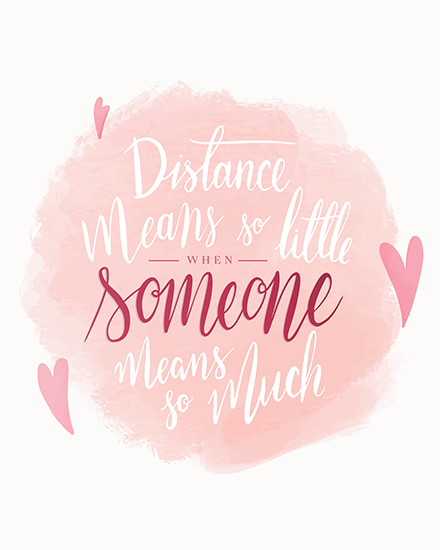 create free Distance Relationship group card