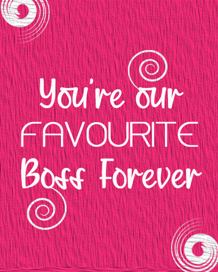 create free Favourite Boss group card