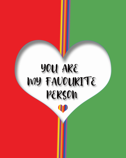 create free Favourite Person group card