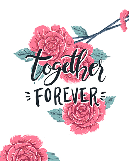 create free Floral Forever group card