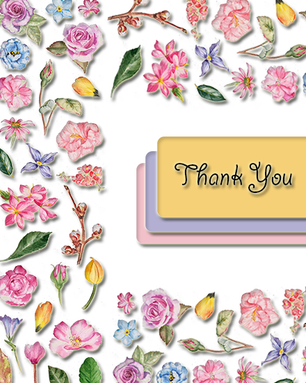 create free Floral Thanks group card