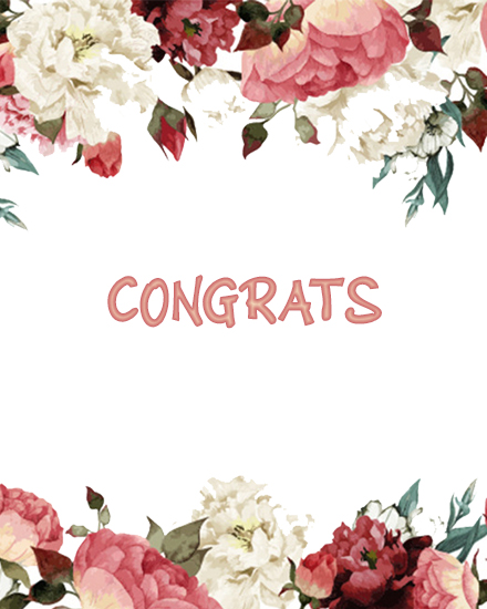 create free Floral Congrats group card