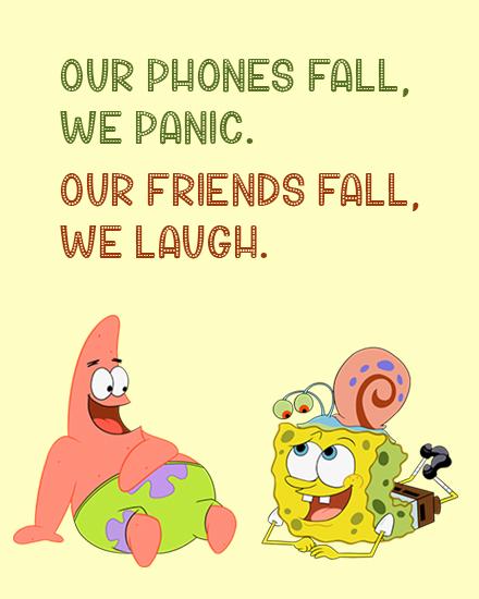 create free Friends Laugh group card