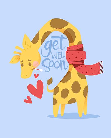 create free Giraffe group card