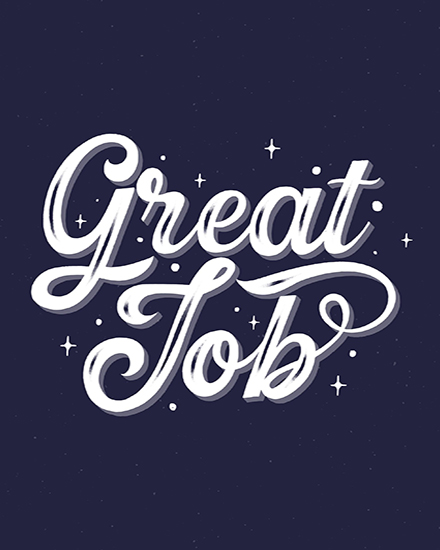 create free Great Job group card