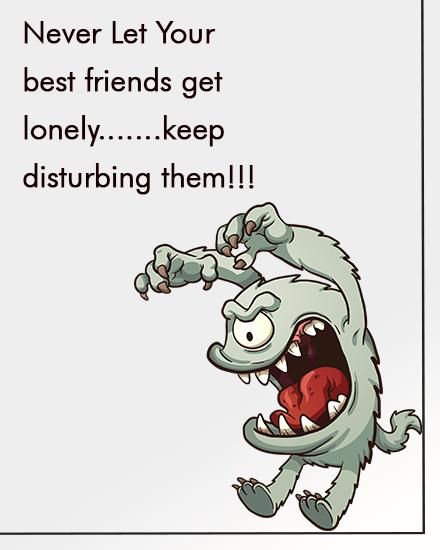 create free Keep Disturbing group card