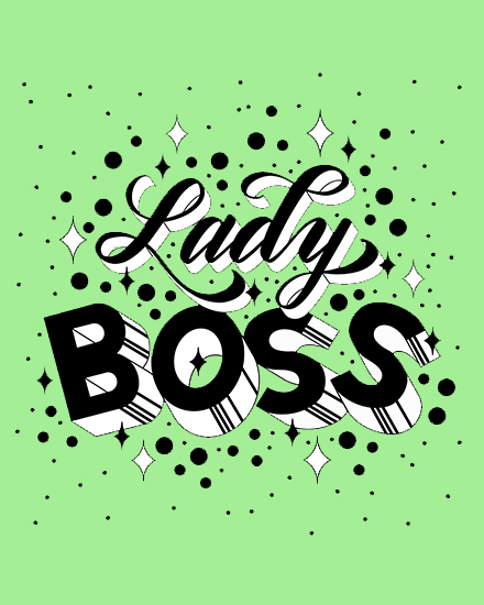 create free Lady boss group card