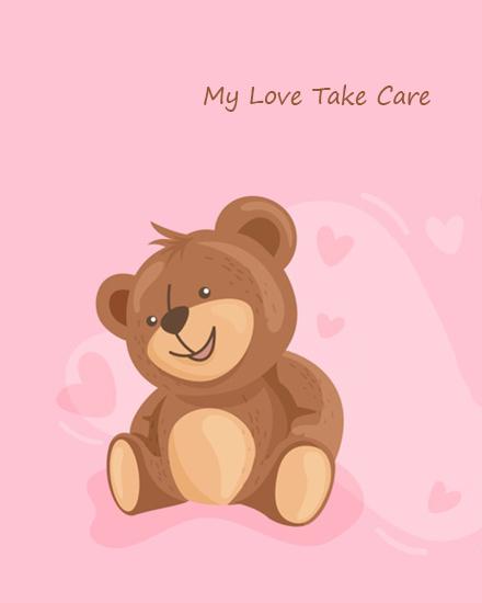 create free  Take Care Love group card