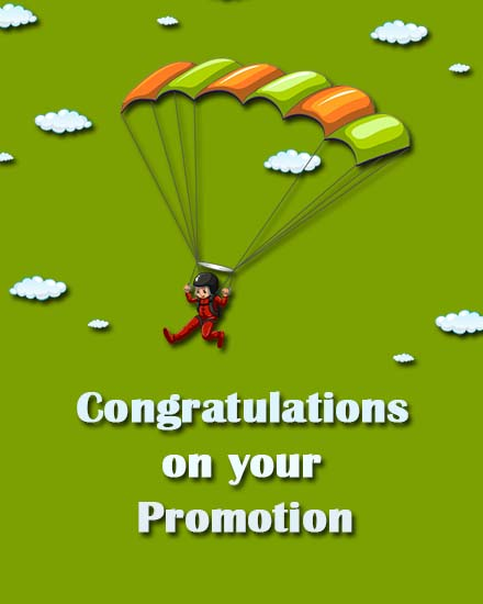 create free Promotion Congrats group card