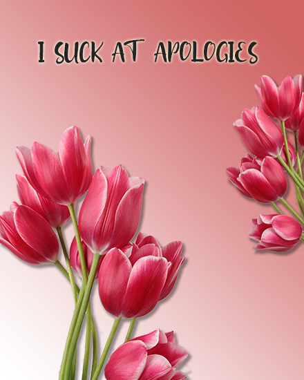 create free Suck at Apologies group card