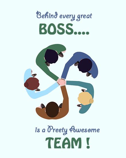 create free Awesome Team group card