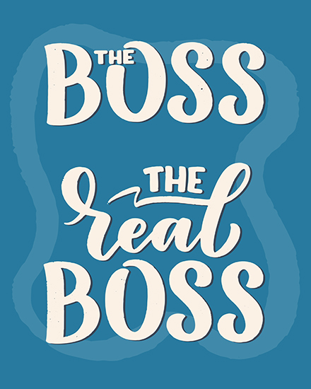 create free The Real Boss group card