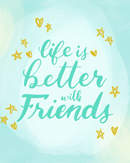 create free Unique Friends group card