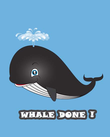 create free Whale Done group card