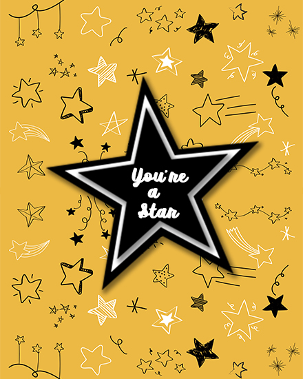 create free Star group card
