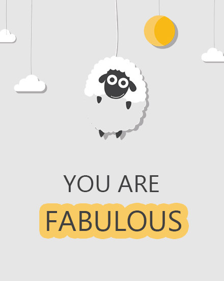 create free You are fabulous group card