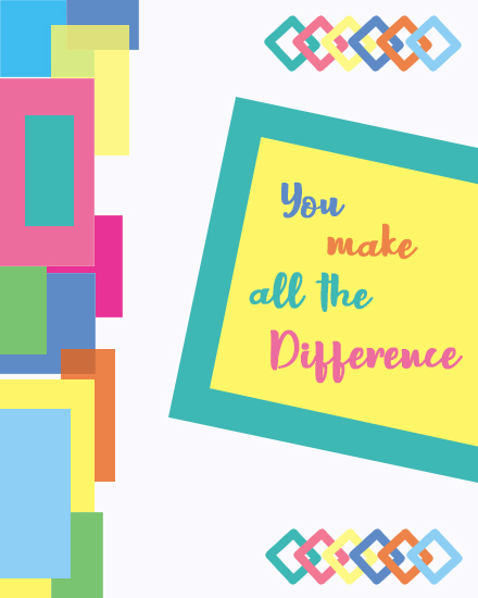 create free Make Difference group card