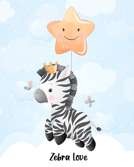 create free Zebra Love group card