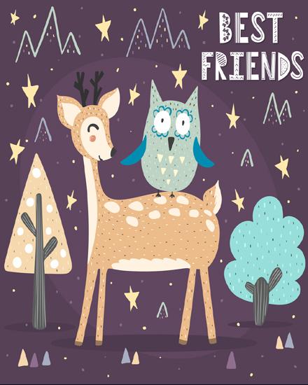 create free Animals Cartoon group card