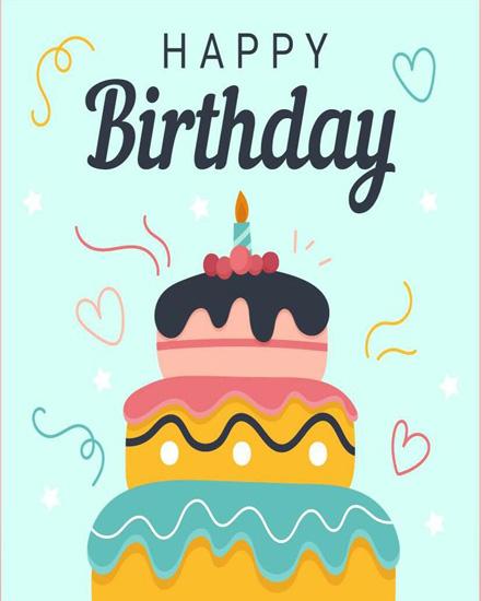 create free Birthday Cake group card