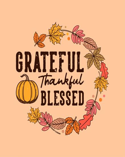 create free Be grateful group card