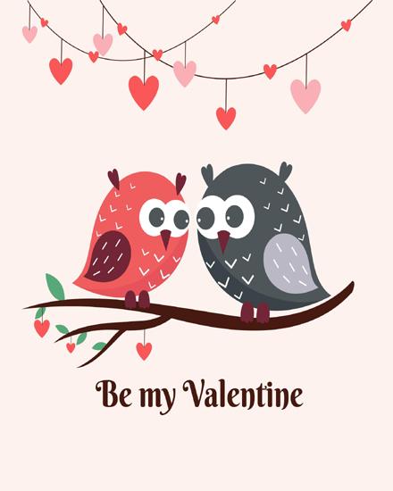 create free Cute Birds group card