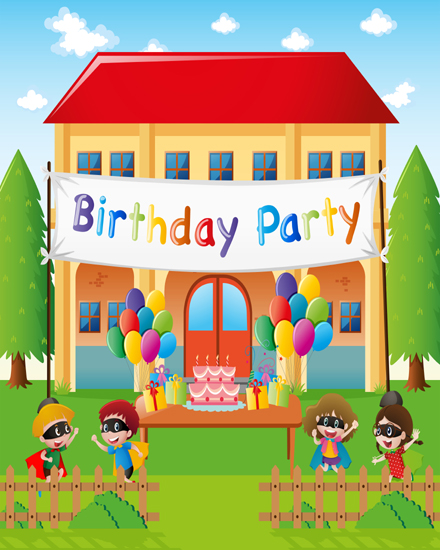 create free Birthday party at home group card