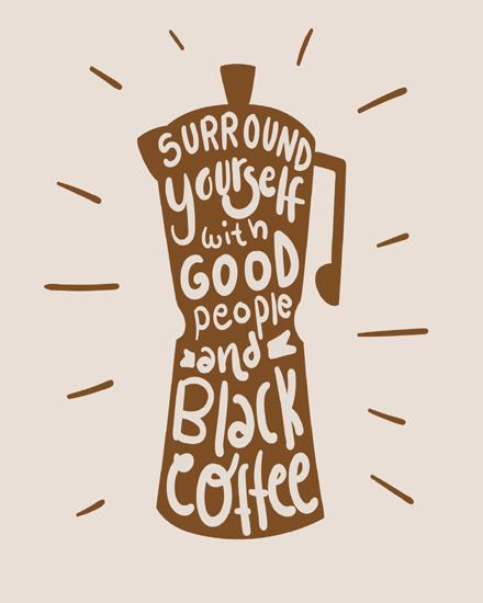 create free Bonita escritura de cafe group card