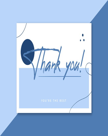create free Blue Tones group card