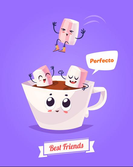 create free Coffee mug group card