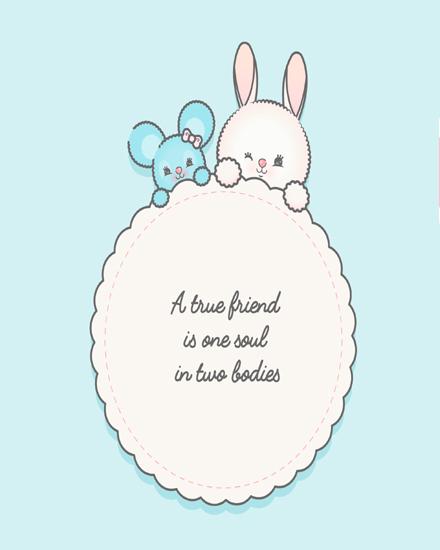create free Cute kawaii group card