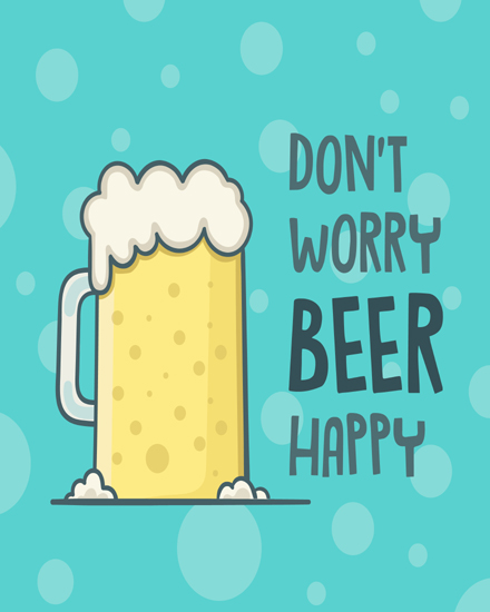 create free Worry beer group card