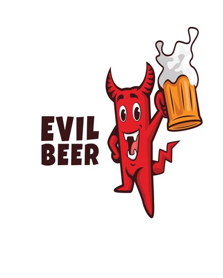 create free Devil beer group card